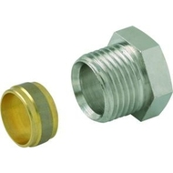 Knelringfitting fig. 3465 messing 15mm 1/2""