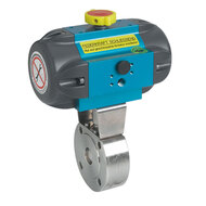 Automated wafer ball valves
