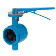 Butterfly valves grooved ends