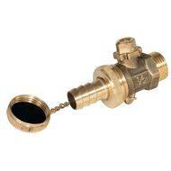 Drain and de-aerator valve