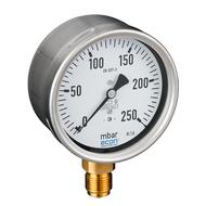 Capsule element pressure gauge