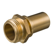 Hosetail male thread (safety clamps)