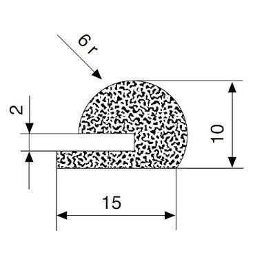 E-profile CR foam rubber black 359 L=25m