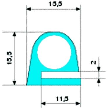 E-profile silicone-THT solid rubber 60 redbrown S-123 L=25m