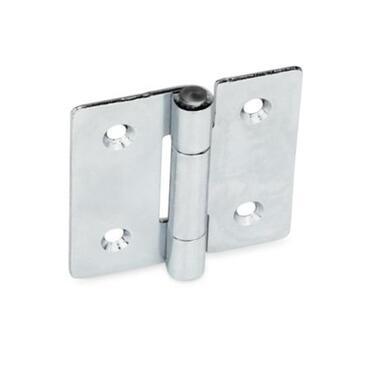 Blechscharniere GN 136 Stahl verzinkt quadratisch/vertikal verlängert