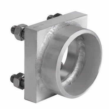Counter flange fig. 1198 Type A stainless steel front welding flange with welding pipe