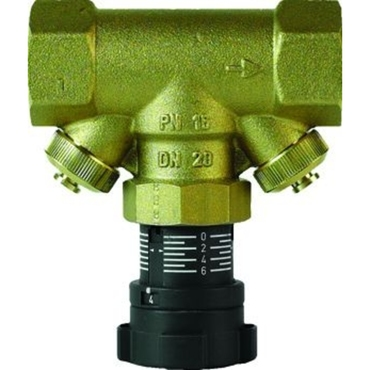 Regulating valve fig. 2603 brass/PTFE internal thread