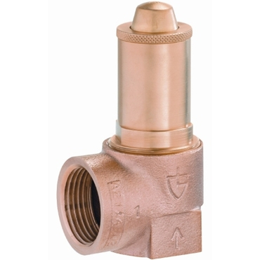 Spring-loaded safety valve fig. 527 bronze low-lifting internal thread
