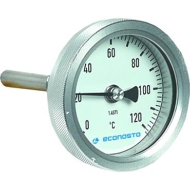 Bimetalthermometer Fig. 693 Aluminium/Edelstahl Einsteck