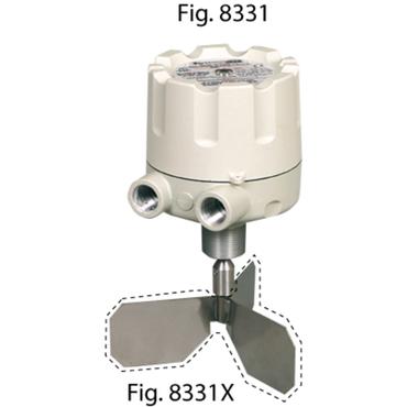 Level switch fig. 8331 series KA aluminium/stainless steel rotating excluding vane 230V AC