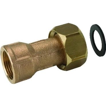 Systeemkoppeling fig. 3332KB serie 476 06 brons voor KIWA inregelafsluiter wartel/binnendraad