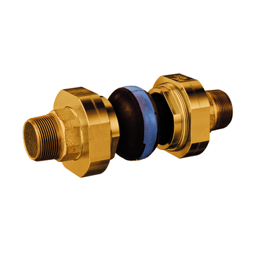 Compensator type 46 blue DW, Butyl with nylon cord for (drinking)water 10 bar, brass 3-piece connection male thread