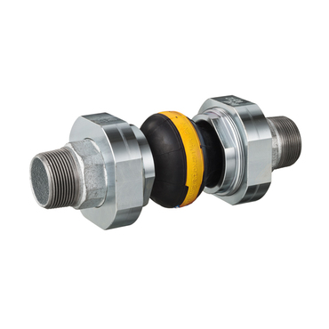 Compensator 46 yellow/CS casted iron male threaded DN50