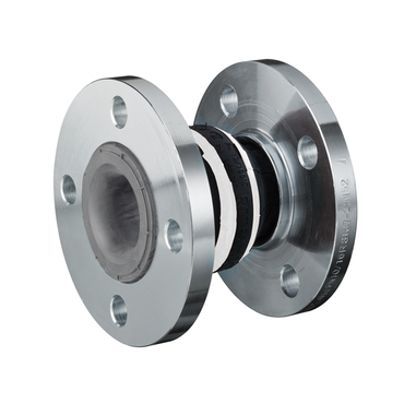 Compensator type 50 colour white - flanges - steel or stainless steel - model 'A'