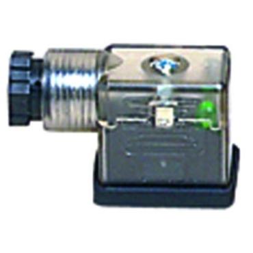 Plug fig. 3205 plastic EN175301 LED VAR for solenoid valve