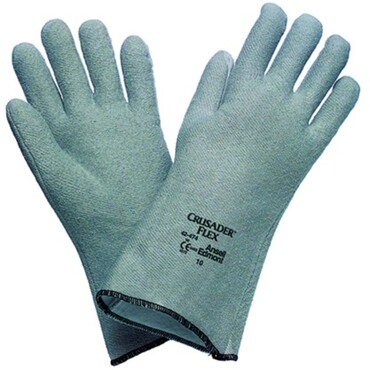 Thermally insulating safety gloves