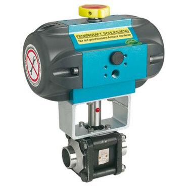 Kugelhahn Fig. 3462 Stahl pneumatisch gesteuert einfachwirkend Stumpfschweißende ISO1127-1