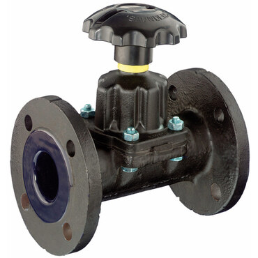 Diaphragm valve, type KB fig. 3071GL, cast iron flange with glass lining