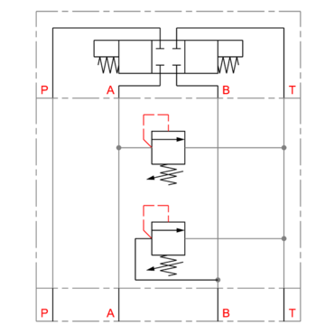Pressure relief valve A-T / B T