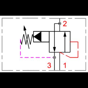 Pressure sequence valve PSV1 16