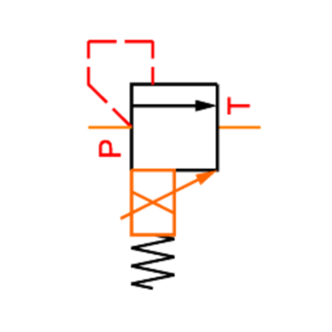 Proportional pressure relief valve KCG