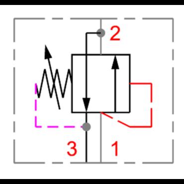 Pressure sequence valve PSV1 10