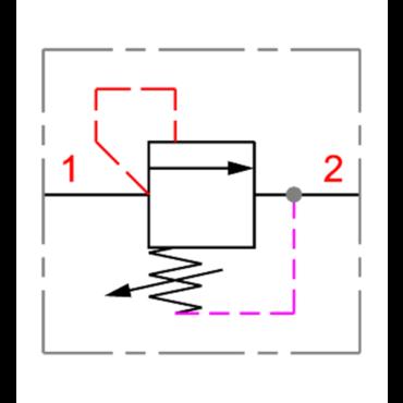 Drukbegrenzingsventiel 1-2 serie RV1