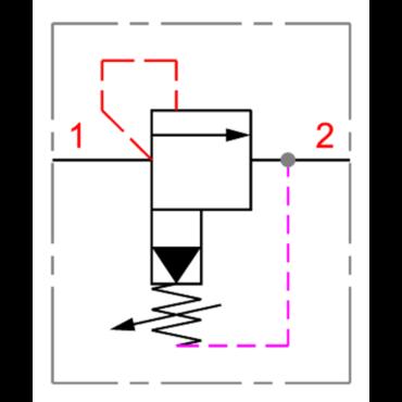 Drukbegrenzingsventiel 1-2 serie RV5/11