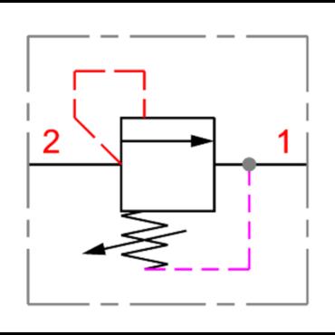Drukbegrenzingsventiel 2-1 serie RV3/8