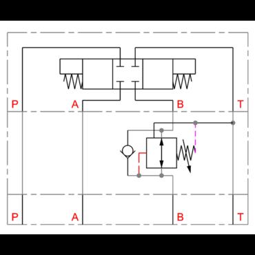 Drukreduceerventiel in B serie DMVZ