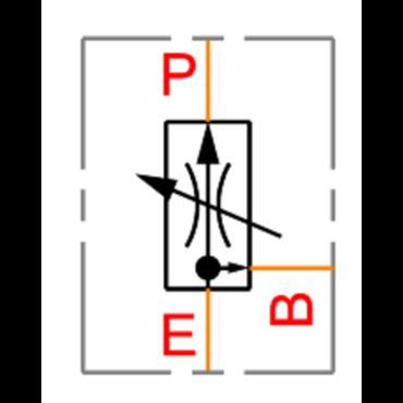3 weg drukgecompenseerde volumeregelaar type VPR 3