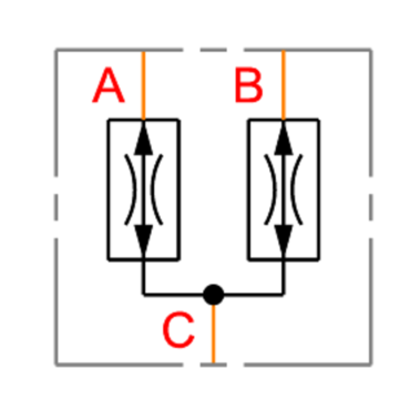 Fixed flow divider