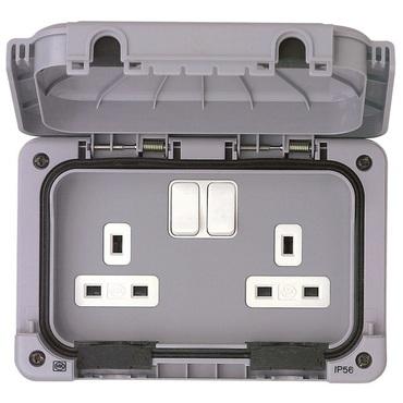 Masterseal waterproof wiring accessories IP56 grey