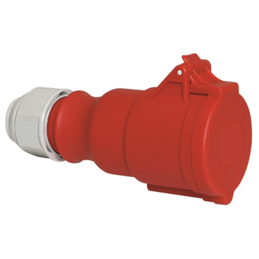 Industrial trailing Connector With Multi Grip Cable Gland IP44