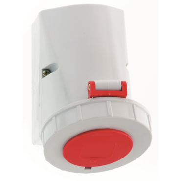 Socket outlet surface mounting with top and bottom cable entry IP67