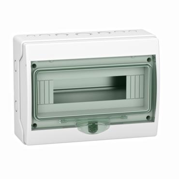 Insulated enclosure, 12 modules IP65