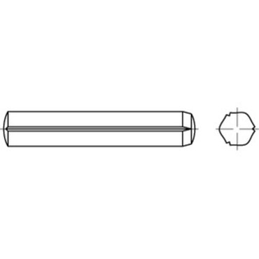 DIN1473/ISO8740 free-cutting steel notched dowel pin