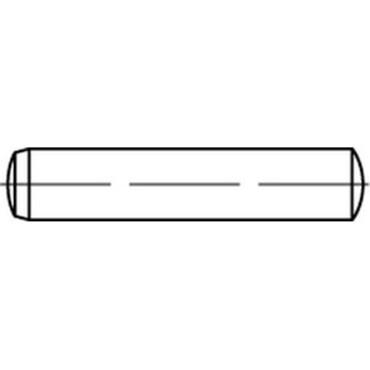 DIN6325 / ISO8734 hardened steel dowel pin (tolerance h6)