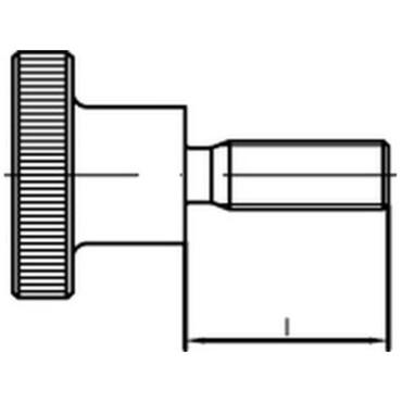 - M4x10 - R/ändelschrauben - DIN 464 VA - SC464 aus rostfreiem Edelstahl A1 hohe Form 20 St/ück