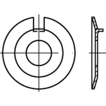 DIN432 Nokborgplaat met buitennok Staal
