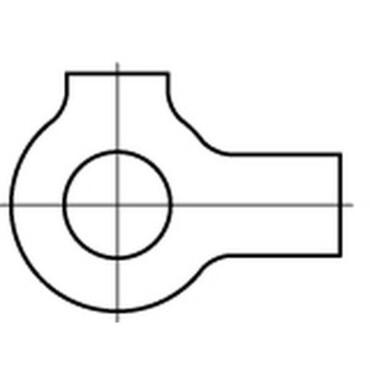 DIN463 Lipborgplaat met dubbele lip Roestvaststaal (RVS) A4