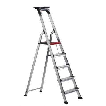 DOUBLE DECKER domestic ladder with high knee brace