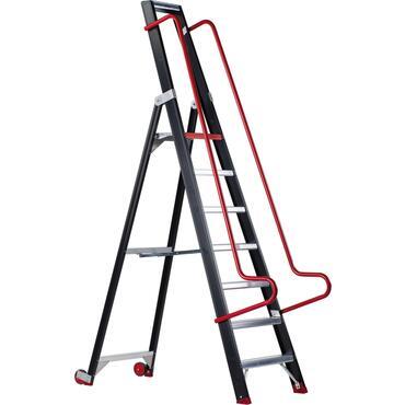 Einseitig begehbare Stufen-Regalleiter TAURUS