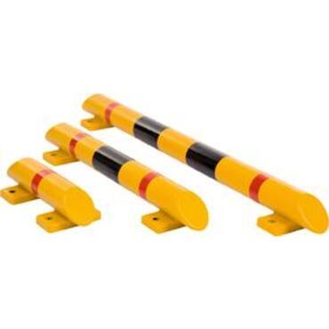 Rambeveiligingsbalk Kunststof D 80mm geel/zwart