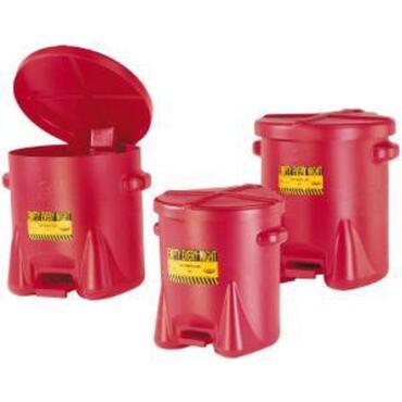 Afvalbakken van polyethyleen met zelfsluitend deksel