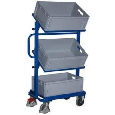Bijzetwagen 200 kg met bakken verstelbaar