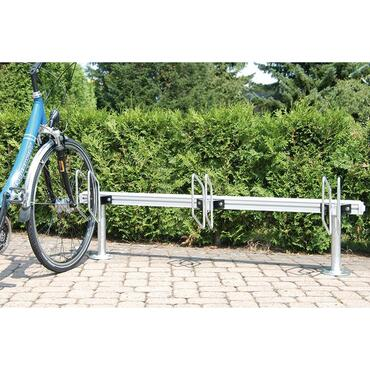 Bicycle rack, fully adjustable module system, Quadro model