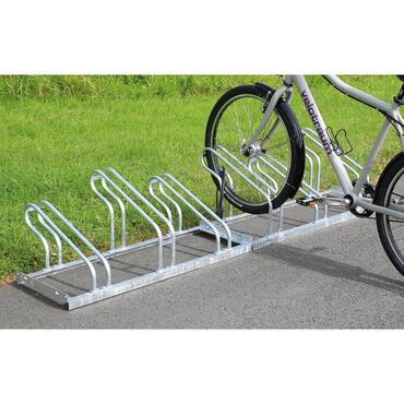 Support stand for bicycle rack, single/double-sided