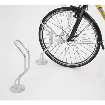 Bicycle rack for floor mounting, model 3 EP, triple-sided parking
