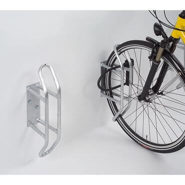 Bicycle rack for wall mounting
